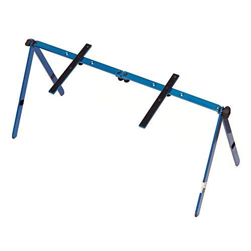 PlyGo - Support Ordinateur Portable Lit Bureau Canapé - Support PC Portable et Tablette Pliable - Réglable en Hauteur et Inclinable - Compact et Léger - en Aluminium Couleur Bleu