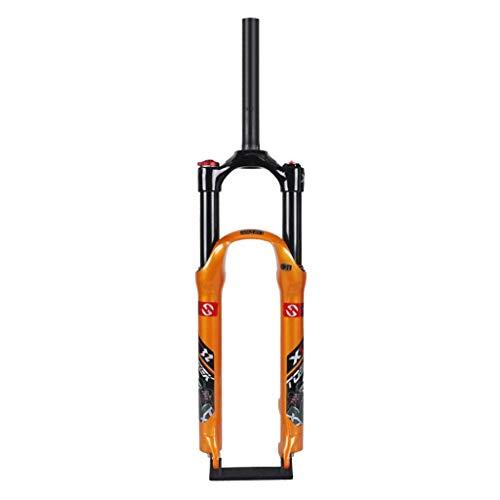 TYXTYX Horquilla de suspensión de Bicicleta 26'27,5' 29'Horquillas Delanteras de aleación de Aluminio Ligero Recorrido: 120 mm - Naranja