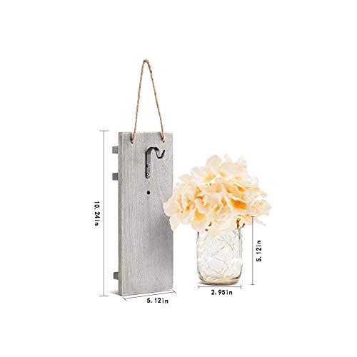 Retro wandlamp creatief hout board led metselaar pot bloem lantaarn afstandsbediening tuin lamp 1 set van 2