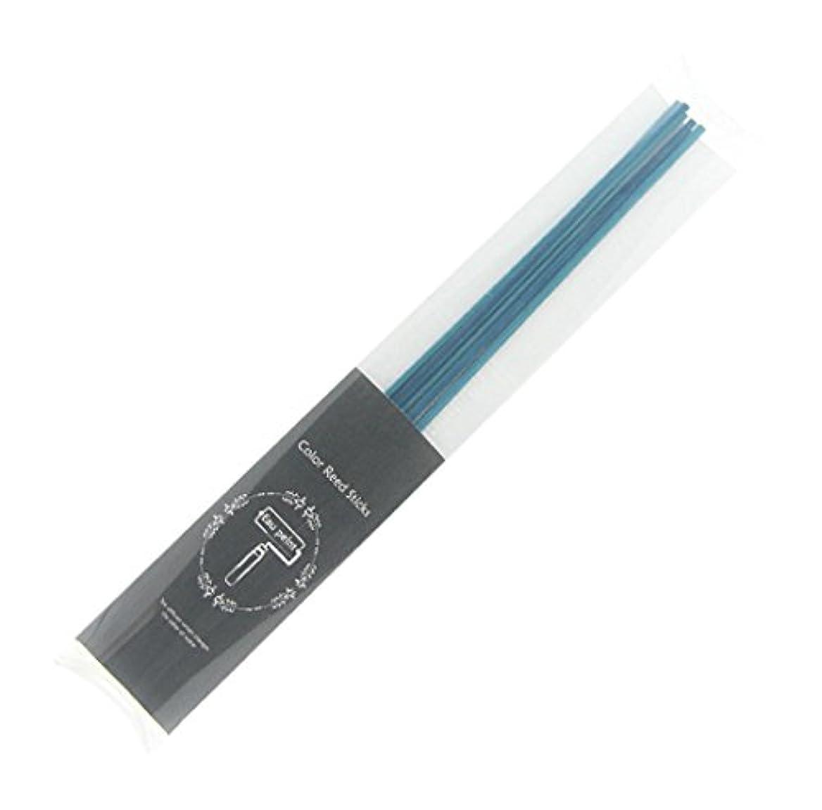 熱意漏斗世界記録のギネスブックEau peint mais+ カラースティック リードディフューザー用スティック 5本入 ブルー Blue オーペイント マイス