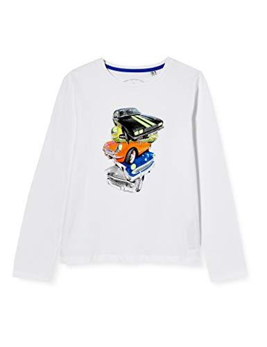 TOM TAILOR Jungen Langarmshirt T-Shirt, Bright White|White, 128/134