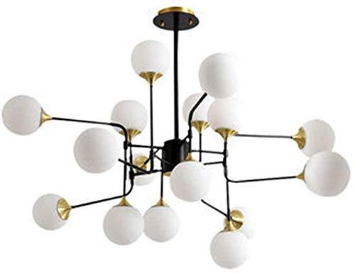 Wghz Candelabro Sputnik Vintage de 16 Luces Bola de Cristal led Rama de Metal Luz Colgante Iluminación clásica Vintage Lámpara de Techo Lámpara de Interior
