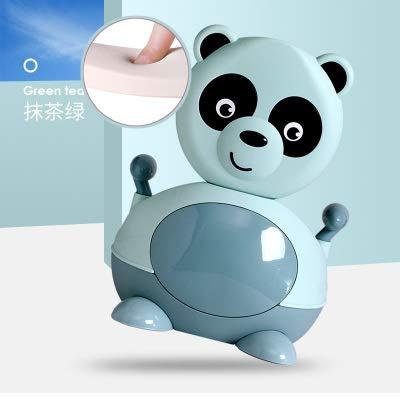 LLDKA handgrepen en rugleuning, panda, schattig, voor kinderen, voor op reis, voor baby's, met draagbaar toilet, comfortabel