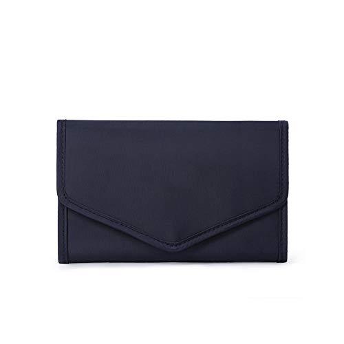 Herqw61 Bolsa de almacenamiento portátil para joyas para mujer, bolsa de almacenamiento plegable para pendientes y anillos