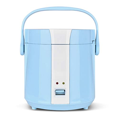 TOHOYOK 1.2L Mini portátil de Cocina de arroz, Fiambrera calentado al Vapor y la Olla de cocción, los Viajes Dormitorio hogar Oficina aparatos de cocción (Color : Blue)
