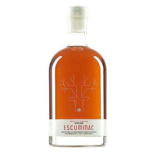 Escuminac Sirop D'Érable Pur Et Premium - Extra Rare - 500 ml - Canada Catégorie A - Grade A - Ambré Goût Riche - Fin et Délicat