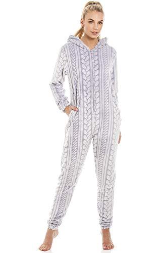 Pijama Pieza Cremallera Capucha Forro Polar Supersuave