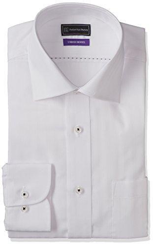 (ピーエスエフエー)P.S.FA アーバンモデル 形態安定 セミワイドカラーワイシャツ P151180011 01 ホワイト LL(首回り43cm×裄丈86cm)