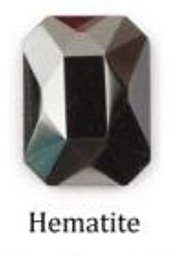 Gouen 20 Piece 10 Colors Rhinestone Nail Art Size 5 10 mm for 3D Nail Art Rhinestones Elongated Teardrop Glass Flame Colorful Stones,Octagonal Hematite