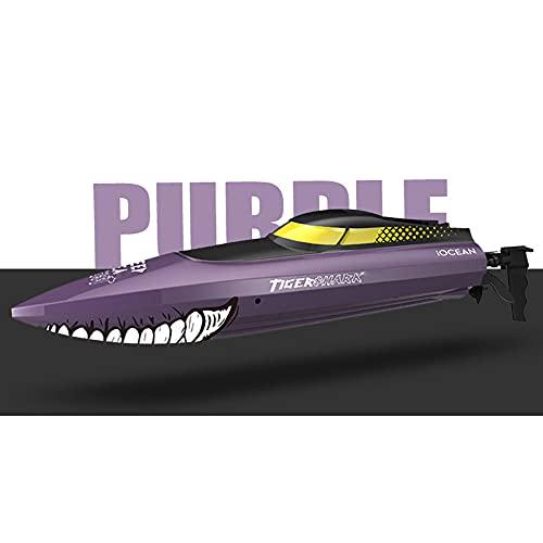QHYZRV Embarcaciones a control remoto, lanchas de motor a control remoto, botes de carreras de simulación, lanchas rápidas impermeables de alta velocidad, juguetes eléctricos para niños acuáticos, ade