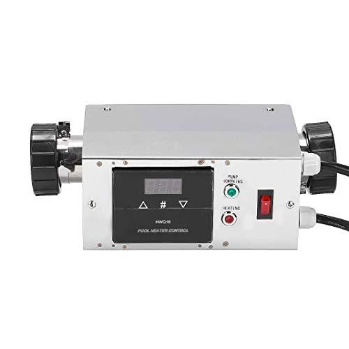 Qingjie Digitaler Temperaturregler Thermostat , Bad Tragbarer Poolheizungsthermostat , Temperaturregelgerät für Schwimmbad/Bad