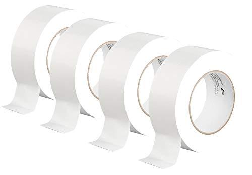 AGT Gewebeband-Rollen: 4er-Set Gewebe-Klebeband, reißfest, 48 mm breit, 0,17 mm dick, weiß (Gaffer-Tape)