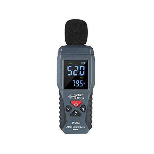Liang Yu Decibel Meter, LCD Digital Sound Level Meter 30-130dB(A) Range with Sound Simulation, Max/Min/Data Hold, Fast/Slow Mode, Self-Calibration Noise Meter,