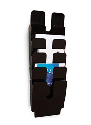 Durable FlexiPlus 1700008061 - Dispensador de folletos (tamaño A4, vertical, 6 compartimentos), color negro