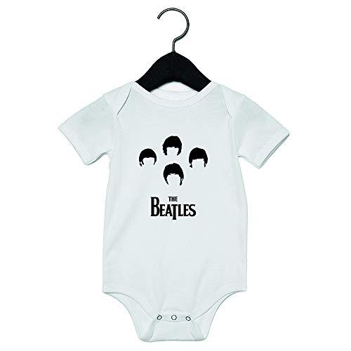 The Beatles Bodino Body Tutina Neonato Bambino Bambina 0-24 Mesi Bimbo Bimba Idea Regalo Nascita Divertente Simpatica Frasi Stampa Semplice Baby Amore Personalizzabile Musica CD Album (0-6 Mesi)