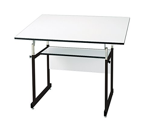 Alvin, Workmaster Jr, WMJ48-3-XB, 4-Post Table, Black Base with White Top - 36' x 48'