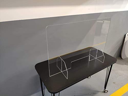 MAMPARA PROTECTORA IRROMPIBLE policarbonato compacto Dim: 100x64cm. material casi irrompible con protección UV