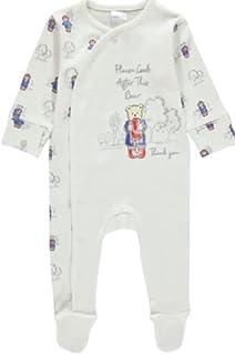 Paddington Bear Unisex Sleepsuit Romper Babygrow Sleepwear Newborn White