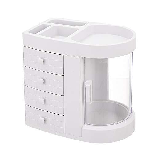 Caja de Almacenamiento de Cosméticos Caja de almacenamiento Tabla cosmética con cajones de almacenamiento de cosmética caja de escritorio Barras de labios de gran capacidad Holder para Casa
