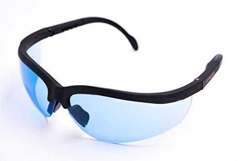 Truper veiligheidsbril fietsbril veiligheidsbril blauw getint met krasbestendige glazen