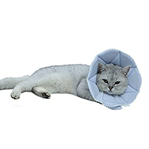 WZ PET Adjustable Dog Cat Cone,Soft Recovery Cat Cone Collar,Dog Protective Collar for Cats Surgery,Pink,Small,Medium