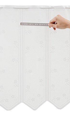 Tenda della finestra con i fiori | Può scegliere la larghezza in segmenti da 30,5 cm, come vuole | Colore: Bianco