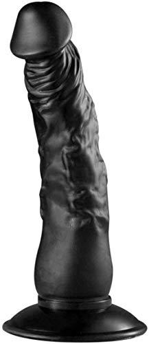 XDHN 9-Zoll-Naturgetreue Künstliche Dild'o Massiv TPE Pha'llus G-Punkt-Stimulating Rod mit Saugnapf Personal Healthcare Spielzeug T-Shirt Sonnenbrille,Black