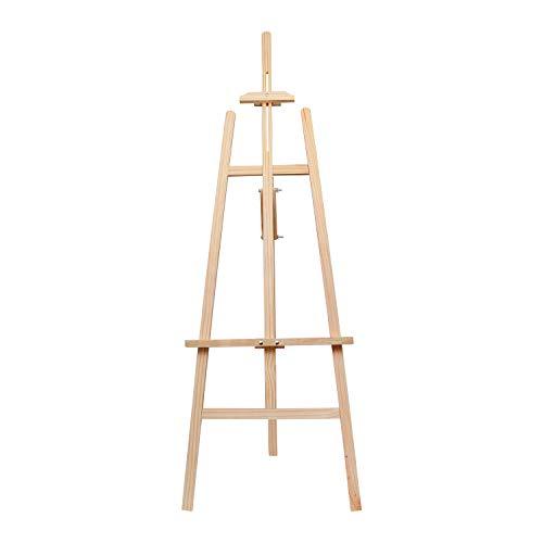 BELLE VOUS Staffelei für Leinwand - 172cm Malstaffelei Stativ Verstellbar - Holz Staffelei Ständer Einfacher Aufbau Gestell - Bildständer, BildHalter für Künstler, Maler, Kinder und Erwachsene
