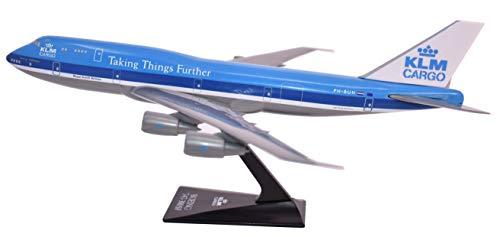 KLM Cargo (73-03) 747-300 Airplane Miniature Model Plastic Snap Fit 1:250 Part#...