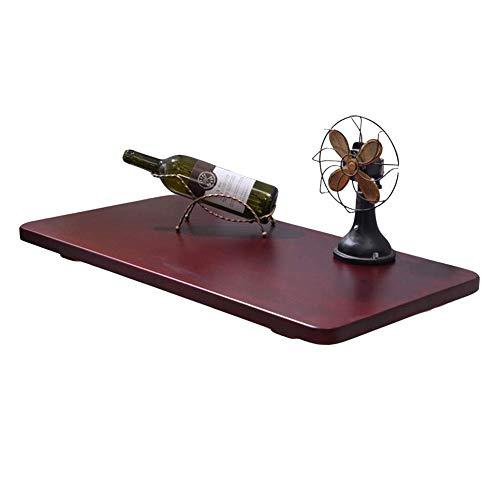 - Krachtige klaptafel, computerwerkkamer-plankhouder, keuken en eettafel, bureau (roodbruin) (afmetingen: 90 x 30 cm) 100x30cm