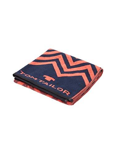 TOM TAILOR Unisex Bath Handtuch mit Zickzack-Muster Coralle,70/150