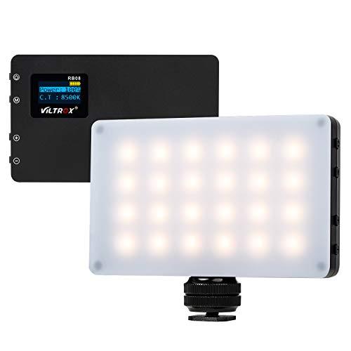 VILTROX RB08 LED-Kamera Videolicht Tragbar auf Kamera Fülllichtfeld CRI95 + für Digitale Spiegelreflexkameras Bi-Color 2500K ~ 8500K 3000mAh Eingebaute Lithiumbatterie