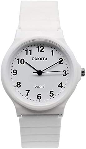 Dakota Easy Clean Basic Plastic PVC Midsize Analog Wrist Watch Unisex Womens Kids Water Resistant product image