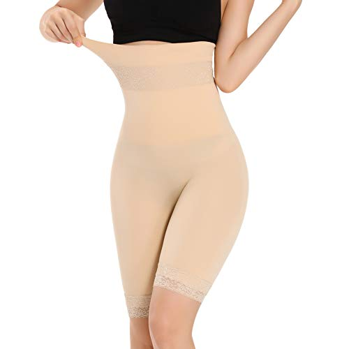 Joyshaper Hoch Taille Miederpants Bauch Weg Miederhose Damen Unterhose Spitze Anti-Chafing Shorts Unter Rock Kurz Hosen Leggings