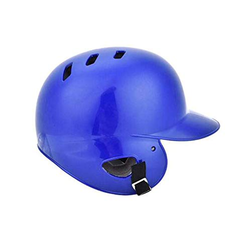 GzxLaY Sport Batter Helm, Stoßfestigkeit Baseball Batting Protective Schutzhelm Kappe offenes Gesicht, Skid Lid,Blau,M