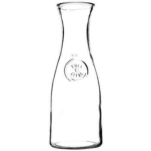 KADAX Glaskaraffe, Karaffe, Wasserkaraffe aus Glas, Krug, Glaskrug für Getränke, Saft, Milch, Eistee, Wein, Wasserkrug, Getränkekaraffe, Saftkrug, transparent (Mads, 1L)