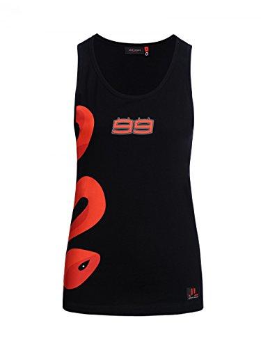 Jorge Lorenzo 2018 99 MotoGP Womens dames zwart Tank Top Vest Snake maten XS-XL