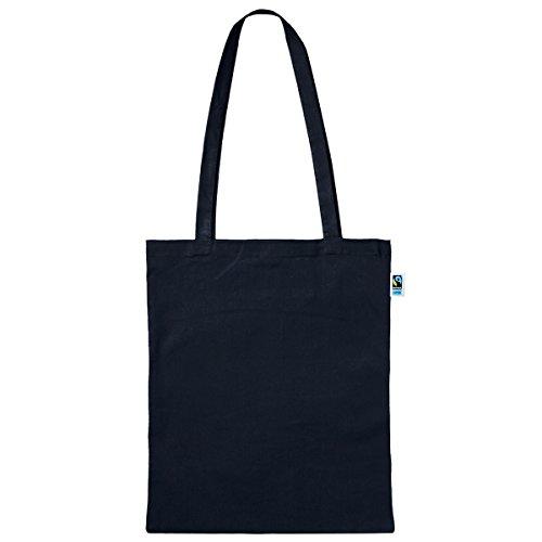 Textildruck Plauen Tasche aus Fairtrade-Baumwolle 5 Stück - 38 x 42cm Baumwollbeutel Baumwolltasche in versch. Farben (Schwarz)