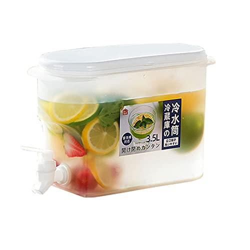 BEAUTTO Dispensador de bebida, dispensador de agua 3,5 L, jarra de agua fría de verano, infusor de agua helada, doble uso caliente y frío