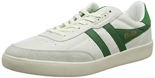 Gola Herren Inca Leather Sneaker, Weiß Off White Green Off White Xn, 41 EU