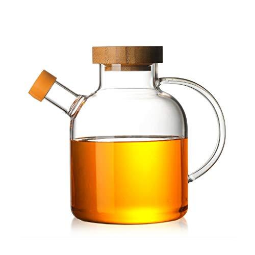 JSY Botella de Alto Vidrio borosilicato Spice Kitchen condimento Botella Creativa Salsa de Soja Tarro del Aceite vinagre con la Tapa Tarro de condimento