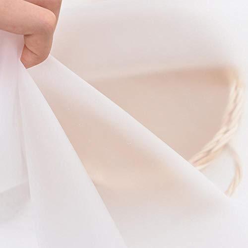 Zzxx 135x50cm Doorschijnende mist perspectief waterdichte stof perspectief kleding regenjas tafelkleed verpakt film voering