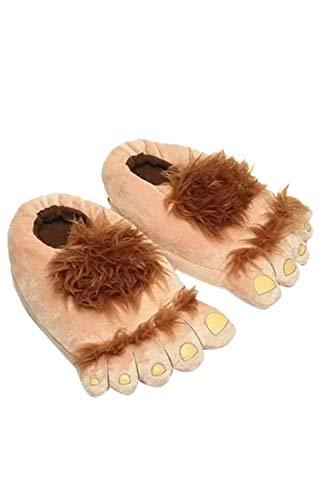 Zapatillas De Casa Borrosas Hobbit Pie Grande Zapatillas Salvajes Zapatos De Interior para Mujer