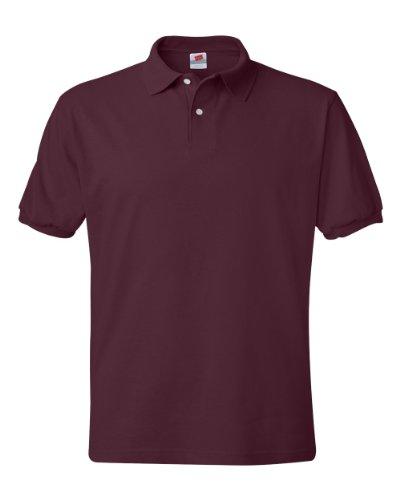 Hanes Men's Cotton-Blend EcoSmart Jersey Polo