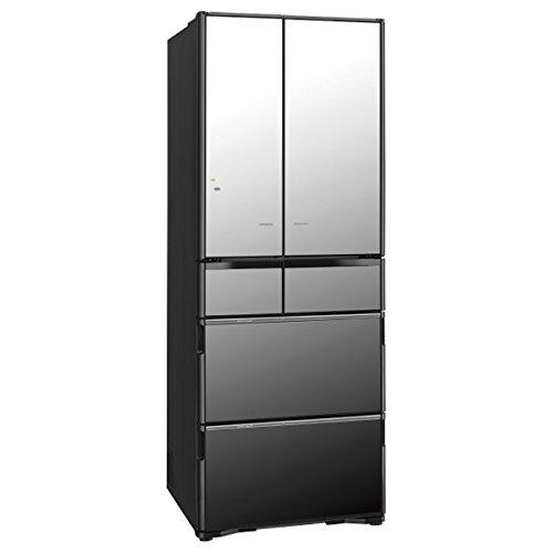 日立 565L 6ドア冷蔵庫(クリスタルミラー)HITACHI 真空チルド R-X5700F-X