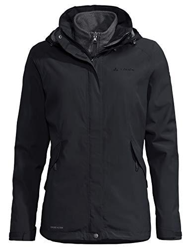 VAUDE Damen Women's Rosemoor 3in1 Jacket Doppeljacke, Black, 38