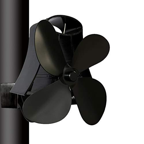 4 Aspas Ventilador Tubo De Humos Estufa Chimenea, Operación Silenciosa Calor Accionado Para Leña/Estufa De Leña/Estufa/Chimenea, Respetuoso Del Medio Ambiente