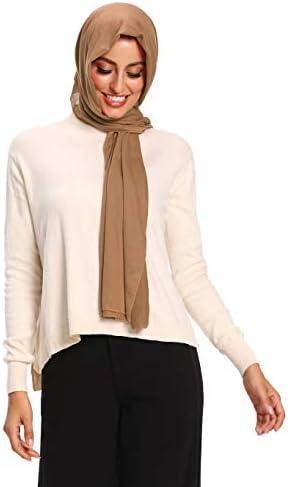 Jersey Hijab Scarfs for Women Head Scarf Muslim Head Wraps
