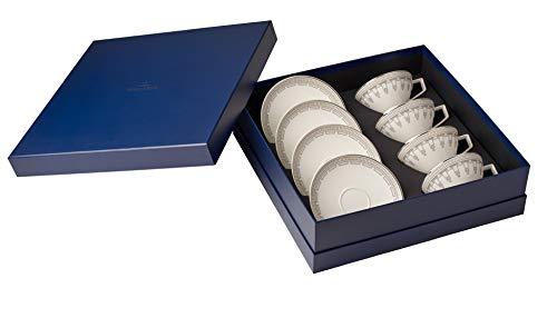 Villeroy & Boch La clasenza Contura Set Te, 8 pièces, Porcelaine Bone China, Multicolore