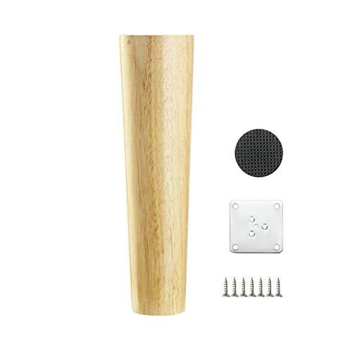 Möbelfüße aus Massivholz, für TV, Couchtisch, Bett, Sofa, Ebene (4 Stück 20 cm)